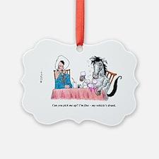 Drunk horse and cowboy. Ornament