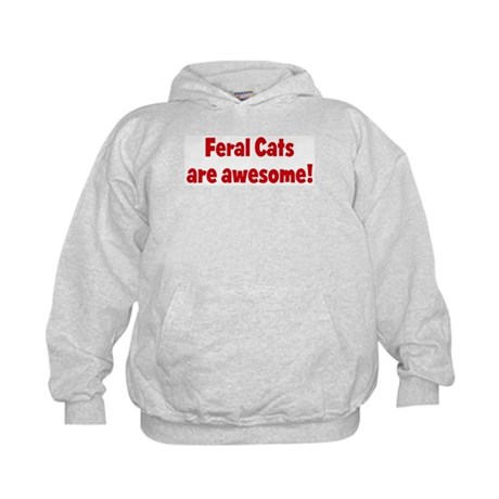 Feral Cats are awesome Kids Hoodie