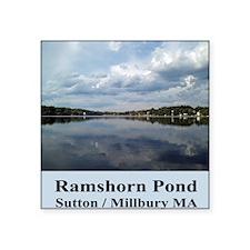 "Ramshorn Pond Square Sticker 3"" x 3"""