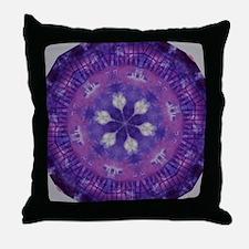 Purple and White Kaleidoscope Throw Pillow