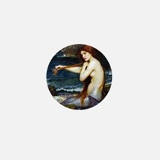 John William Waterhouse Mermaid. Mini Button
