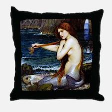 John William Waterhouse Mermaid. Throw Pillow
