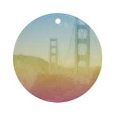 Dreamy Golden Gate Bridge Round Ornament