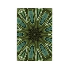 Green and silver medallion Rectangle Magnet
