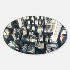 Top View of New York Decal