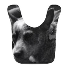 Heeler in Black and White Bib