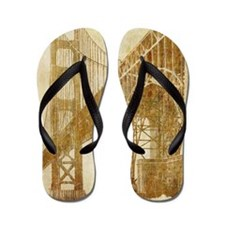 Vintage Golden Gate Bridge Flip Flops