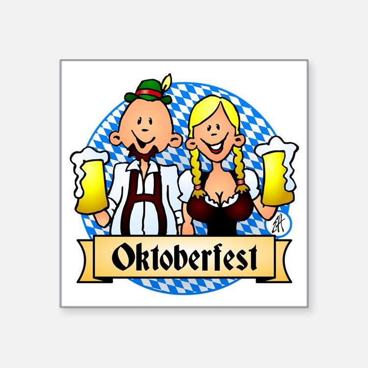 "Oktoberfest Square Sticker 3"" x 3"""