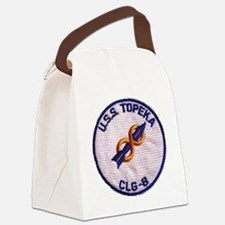 uss topeka patch transparent Canvas Lunch Bag