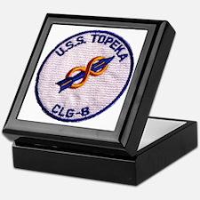 uss topeka patch transparent Keepsake Box