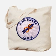 uss topeka patch transparent Tote Bag