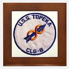 uss topeka patch transparent Framed Tile