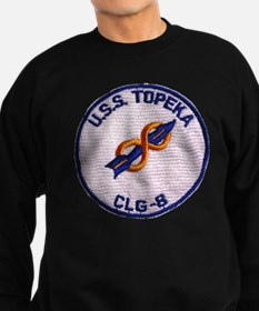 uss topeka patch transparent Sweatshirt
