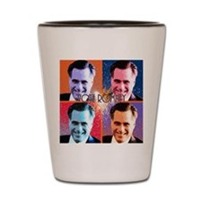 Vote Romney Pop Art Shot Glass