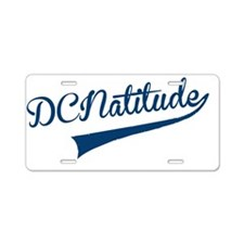 DCNATITUDE Swoosh Blue Aluminum License Plate
