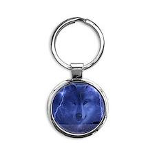 Lightning Wolf Round Keychain