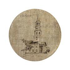 """Charleston 3.5"""" Button"""