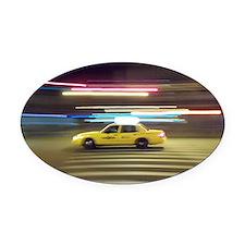 NewYork Yellow Cab Oval Car Magnet