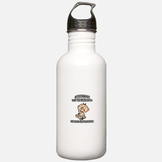 Funny New Father Water Bottle