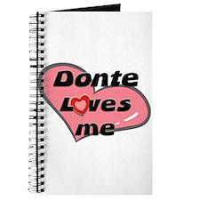donte loves me Journal
