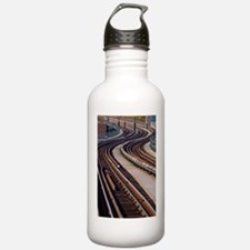 Snaking Train Track Water Bottle