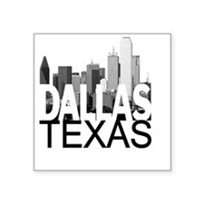 "Dallas Skyline Square Sticker 3"" x 3"""