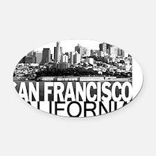 San Francisco Skyline Oval Car Magnet