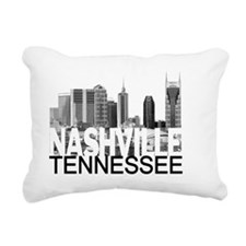 Nashville Skyline Rectangular Canvas Pillow