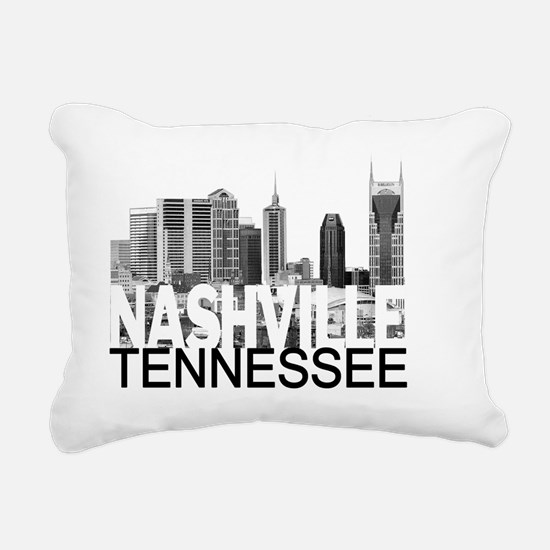 Nashville Skyline Rectangular Canvas Pillow