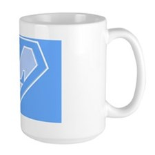 super pillowcase blue z Mug
