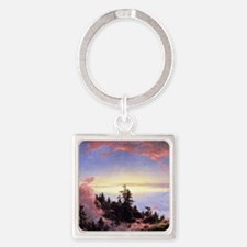 Above the Cloud Square Keychain