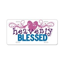 Heavenly Blessed Heart Scro Aluminum License Plate