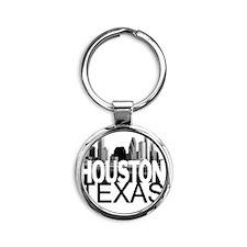 Houston Skyline Round Keychain