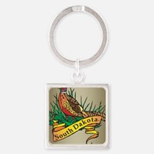 South Dakota Pheasant Square Keychain