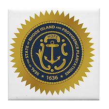Rhode Island Seal Tile Coaster