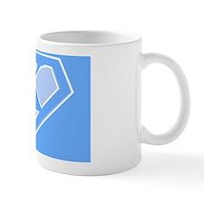 super pillowcase blue x Mug