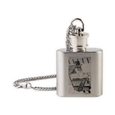 New York - Broadway Times Square Flask Necklace