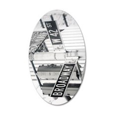 New York - Broadway Times Sq 35x21 Oval Wall Decal