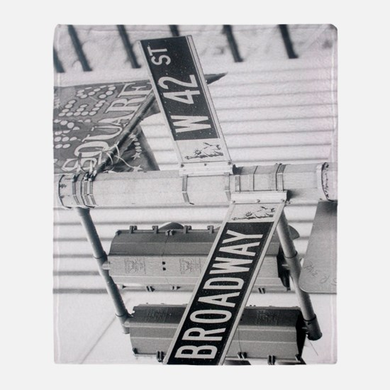 New York - Broadway Times Square Throw Blanket