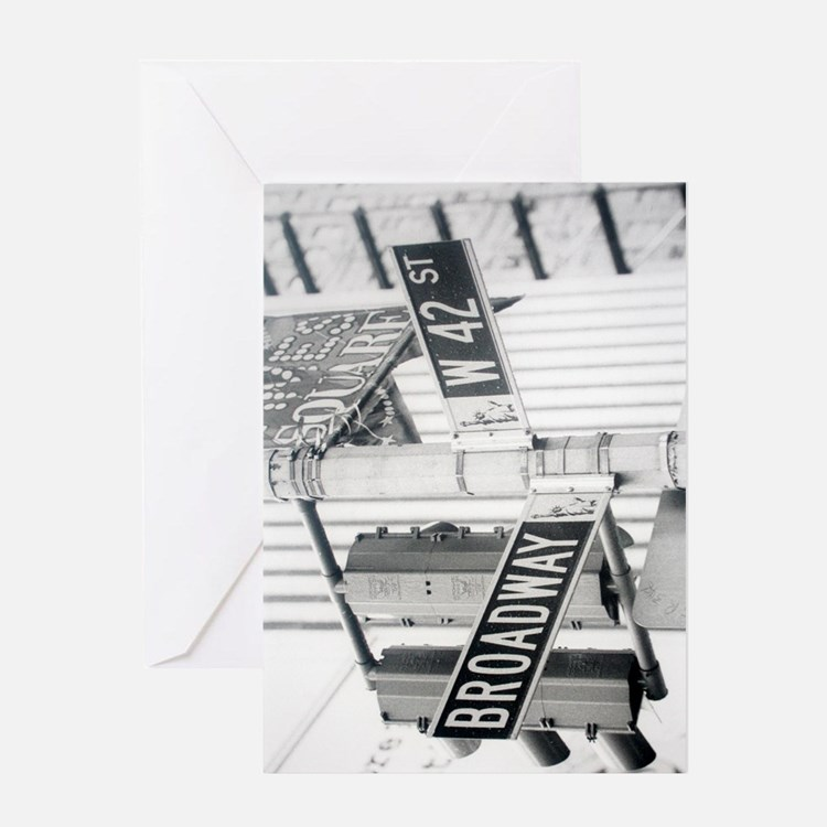 New York - Broadway Times Square Greeting Card