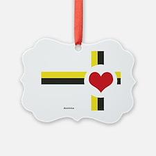 Dominica Love Ornament