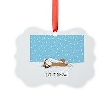 snowsheltieround Ornament