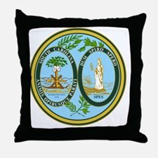 South Carolina Seal Throw Pillow