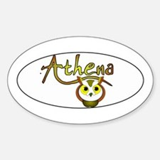 Athena, Goddess of Wisdom and Oval Decal