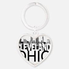 Cleveland Skyline Heart Keychain