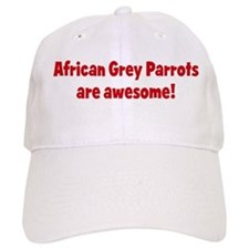 African Grey Parrots are awes Baseball Cap