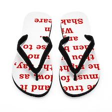 william shakespeare Flip Flops