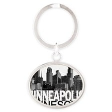 Minneapolis Skyline Oval Keychain