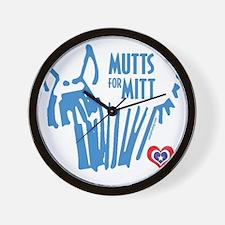 Mutts for Mitt by VampireDog Wall Clock