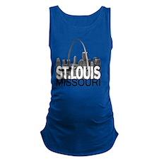 St. Louis Skyline Maternity Tank Top